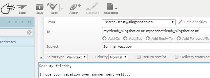 Email – Slingshot